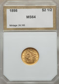 1898 $2 1/2 MS64 PCI. In our opinion, this coin grades MS61. NGC Census: (150/163). PCGS Population (157/132). Mintage...