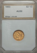 1853 $2 1/2 AU50 PCI. In our opinion, this coin has the details of an AU specimen that has been scratched. NGC Census:...