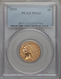 Indian Half Eagles: , 1915 $5 MS62 PCGS. PCGS Population (1415/1439). NGC Census:(1794/1205). Mintage: 588,075. CDN Wsl. Price for problem free ...