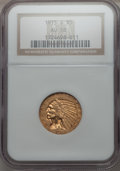 Indian Half Eagles: , 1915-S $5 AU58 NGC. NGC Census: (469/275). PCGS Population (170/289). Mintage: 164,000. CDN Wsl. Price for problem free NGC...