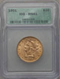 1901 $10 MS61 ICG. In our opinion, this coin grades AU58. NGC Census: (4305/19019). PCGS Population (2171/12426). Minta...