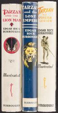 Books:Science Fiction & Fantasy, Edgar Rice Burroughs. Group of Three Tarzan Books. Tarzana:[1934-1948]. Two first editions.... (Total: 3 Items)