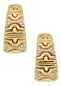 Estate Jewelry:Earrings, Diamond, Gold Earrings, Bvlgari. ... (Total: 2 Items)