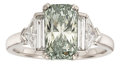 Estate Jewelry:Rings, Fancy Colored Diamond, Diamond, White Gold Ring. ...