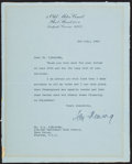 Books:Mystery & Detective Fiction, Ian Fleming Typed Letter. London: 3rd July, 1963. Signed.. ...