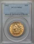 Liberty Eagles: , 1902 $10 MS62 PCGS. PCGS Population (214/131). NGC Census: (241/87). Mintage: 82,400. CDN Wsl. Price for problem free NGC/P...