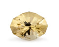 Gems:Faceted, Gemstone: Lemon Quartz - 13.7 Ct.. Brazil. 19.8 x 15.2 x 10.7mm. ...