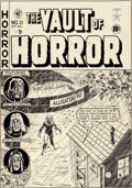 Original Comic Art:Covers, Johnny Craig Vault of Horror #21 Cover Original Art (EC,1951)....