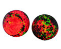 Lapidary Art:Eggs and Spheres, Fluorescent Spheres (Set of 2). Franklin Ore Body.Franklin Borough. Sussex Co, New Jersey. 1.74 and1.73 inch... (Total: 2 Items)