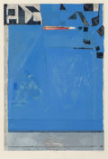 Prints:Contemporary, Richard Diebenkorn (1922-1993). Blue with Red, 1987.Woodblock in colors on Echizen Kozo Mashi paper. 33-1/2 x 23inches...