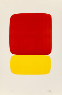 Ellsworth Kelly (1923-2015) Red over Yellow (Rouge sur Jaune), from Suite of Twenty-Seven Color Lith