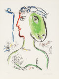 Fine Art - Work on Paper:Print, Marc Chagall (1887-1985). L'Artiste Phénix, 1972. Lithographin colors on wove paper. 30 x 22-1/4 inches (76 x 56.5 cm) ...