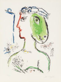 Marc Chagall (1887-1985) L'Artiste Phénix, 1972 Lithograph in colors on wove paper 30 x 22-1/4 in