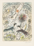 Fine Art - Work on Paper:Print, Marc Chagall (1887-1985). Le ciel, 1984. Lithograph incolors on Arches paper. 24-1/4 x 18-7/8 inches (61.5 x 48 cm)(im...