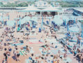 Prints:Contemporary, Massimo Vitali (b. 1944). Bagni Lido, from A Portfolio ofLandscapes and Figures, Sheet #15, 2006. Offset lithograph...