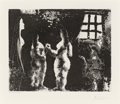 Prints, Pablo Picasso (1881-1973). En pensant à Goya: femmes en prison, from La Séries 347, 1968. Aquatint on BFK Rives pape...