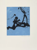 Prints:Contemporary, Robert Motherwell (1915-1991). Gesture III, 1976-77.Lift-ground etching with aquatint in colors on JB Green paper.19-1...