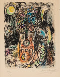 Prints:European Modern, Marc Chagall (1887-1985). The Tree of Jesse, 1960.Lithograph in colors on Arches paper. 12-1/2 x 9-1/2 inches (31.8 x2...