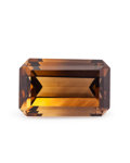 Gems:Faceted, Gemstone: Citrine/Smoky Quartz - 8.74 Ct.. Zambia. 15.5 x 10 x7.3 mm. ...
