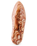 Lapidary Art:Carvings, Wave Dolomite. Mexico. 6.30 x 2.05 x 1.11 inches (16.00 x 5.20 x2.82 cm). ...