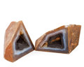 Lapidary Art:Carvings, Geometric Agate Pair. Brazil (?). 5.00 x 3.02 x 2.42 inches(12.70 x 7.68 x 6.15 cm). ... (Total: 2 Items)