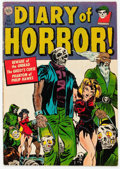 Golden Age (1938-1955):Horror, Diary of Horror #1 (Avon, 1952) Condition: VG+....