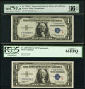 Small Size:Silver Certificates, Fr. 1609/Fr. 1610 $1 1935A R and S Silver Certificates. PMG Gem Uncirculated 66 EPQ and PCGS Gem New 66PPQ.. ... (Total: 2 notes)