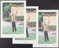 Golf Collectibles:Autographs, Davis Love III Signed Lithographs Lot of 3. ...