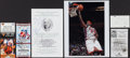 Basketball Collectibles:Others, Basketball Notables Signed and Unsigned Mementos Lot of 19....