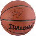Basketball Collectibles:Balls, LeBron James Signed Basketball....