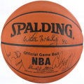 Basketball Collectibles:Balls, New York Knicks Stars Multi-Signed Basketball....