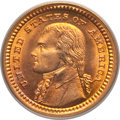 Commemorative Gold, 1903 G$1 Louisiana Purchase, Jefferson Gold Dollar MS65 PCGS. PCGSPopulation (741/683). NGC Census: (459/466). Mintage: 17...