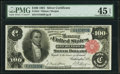 Large Size:Silver Certificates, Fr. 344 $100 1891 Silver Certificate PMG Choice Extremely Fine 45EPQ.. ...