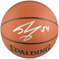 Basketball Collectibles:Balls, Shaquille O'Neal Signed Basketball....