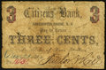 Obsoletes By State:New Hampshire, Sanbornton, NH - Citizens Bank 3c Dec. 21, 1863. ...