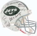 Football Collectibles:Helmets, 1969 New York Jets Team Signed Reunion Full Sized Authentic Helmet....