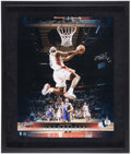 Basketball Collectibles:Photos, LeBron James Signed Upper Deck Authenticated OversizedPhotograph....