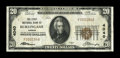 National Bank Notes:Kansas, Burlingame, KS - $20 1929 Ty. 1 The First NB Ch. # 4040. ...