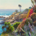 Fine Art - Painting, American:Contemporary   (1950 to present)  , Curt Walters (American, b. 1950). Heisler Park, Laguna Beach,California. Oil on canvas. 28 x 28 inches (71.1 x 71.1 cm)...