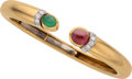 Estate Jewelry:Bracelets, Ruby, Emerald, Diamond, Platinum, Gold Bracelet, David Webb. ...