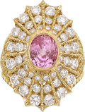 Estate Jewelry:Rings, Pink Sapphire, Diamond, Gold Ring, Cynthia Bach. ...