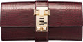 Luxury Accessories:Bags, Hermes 23cm Shiny Bordeaux Alligator Medor Clutch Bag withPermabrass Hardware . R Square, 2014 . PristineCondition...