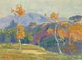 Fine Art - Painting, American:Modern  (1900 1949)  , Dana Bartlett (American, 1882-1957). Near Pasadena . Oil oncanvas. 12 x 16-1/4 inches (30.5 x 41.3 cm). Signed lower ri...