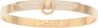 Hermes 18K Rose Gold & White Diamond Collier de Chien PM Bracelet Excellent to Pristine Condition