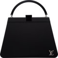 "Luxury Accessories:Bags, Louis Vuitton Black Acrylic & PVC Top Handle Bag. ExcellentCondition. 10.5"" Width x 7.5"" Height x 3"" Depth. ..."