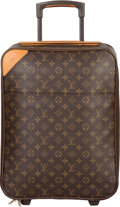 "Luxury Accessories:Travel/Trunks, Louis Vuitton Classic Monogram Canvas Pegase 45 Suitcase. VeryGood Condition. 14"" Width x 17.5"" Height x 7"" Depth. ..."