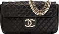 "Luxury Accessories:Accessories, Chanel Black Quilted Lambskin Leather Flap Bag with Gold and PearlHardware. Very Good Condition . 10"" Width x 6""Heig..."
