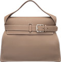 """Luxury Accessories:Bags, Hermes Etoupe Togo Leather Etribelt Bag with Palladium Hardware.P Square, 2012. Excellent Condition. 13.5"""" Width x 10"""" He..."""