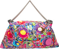 """Chanel Multicolor Quilted Satin Kaleidoscope Large Tote Bag Excellent Condition 23"""" Width x 12.5"""""""