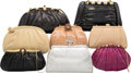Luxury Accessories:Bags, Judith Leiber Set of Eight; Black, Neutral, Silver Karung &Pink Watersnake Evening Bags. Very Good Condition.Various... (Total: 8 Items)